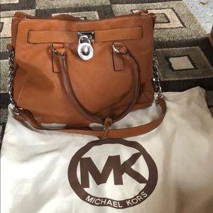 burnt orange/brown michael kors purse